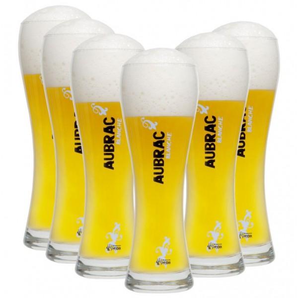 Verre à bière blanche personnalisable 0,5L  Cadeaux sur IdéeCadeau
