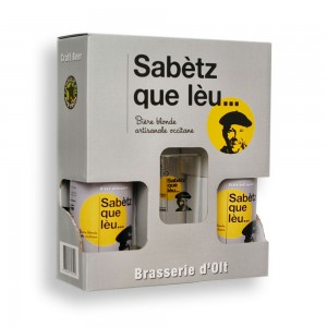 Coffret 2 bières Sabetz que Leu 33 cl + 1 verre Sabetz que Leu