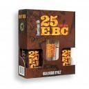 Coffret 2 bières 25 EBC 33 cl + 1 verre 25 EBC