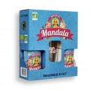 Coffret 2 bières Mandala Bio 33 cl + 1 verre Mandala
